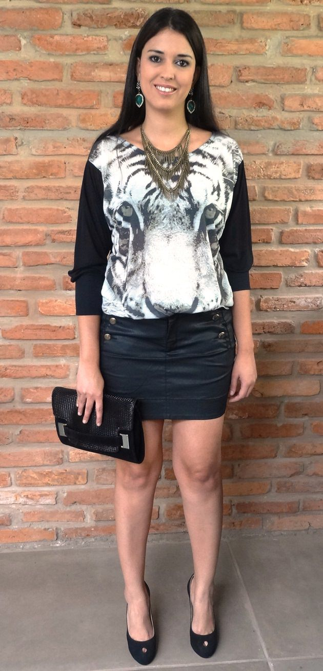 Roupa da moda, roupos da moda, blusa, animal face, look animal face, look do dia, blog de moda, blog de moda em Campo Grande, Bob Store, look fashion
