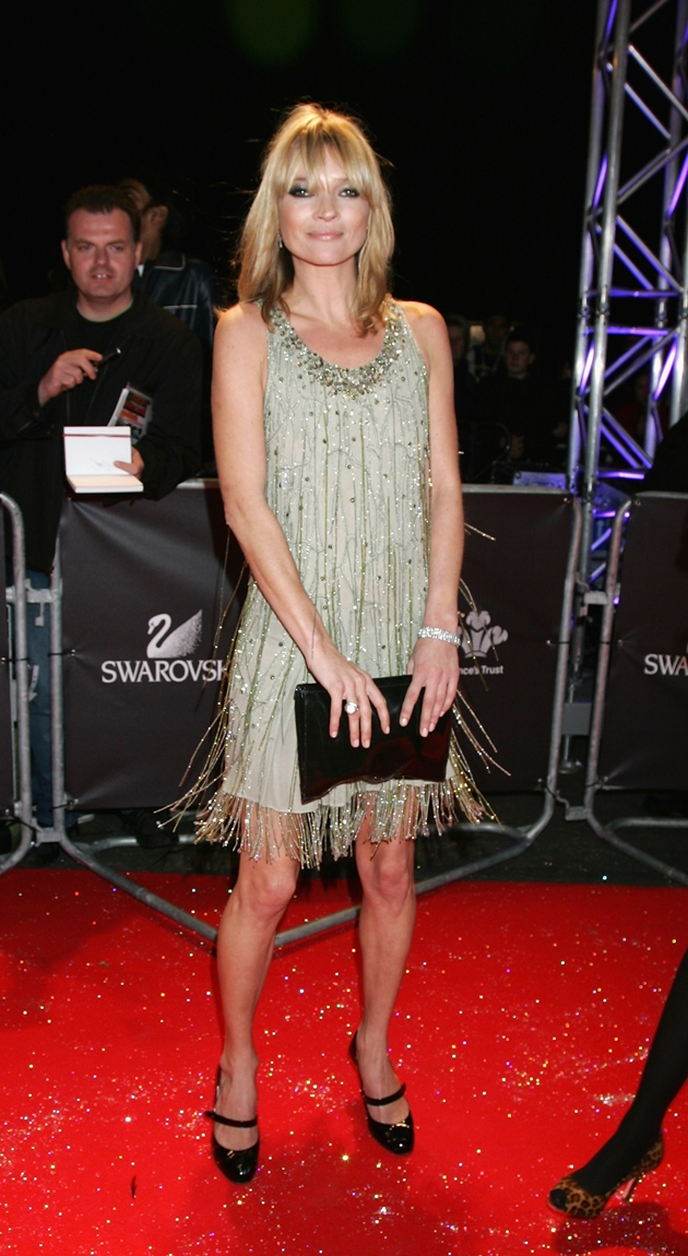 LONDON - OCTOBER 18: Model Kate Moss arrives at the Swarovski Fashion Rocks concert at the Royal Albert Hall on October 18, 2007 in London, England. (Photo by Chris Jackson/Getty Images)